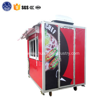 Fast Breakfast Food Carts Mobile Kitchen Trailer